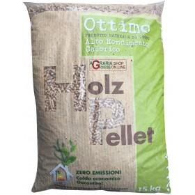 Holz ottimo pellet per stufe alto rendimento calorico kg. 15