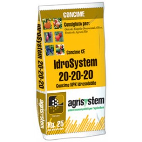 IDROSYSTEM FERTILIZER FOR FERTIGATION 20.20.20 KG. 25