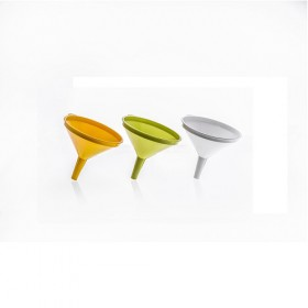 FUNNEL IN PLASTIC WITHOUT FILTER CM. 14 White / Ocher Yellow / Acid Green