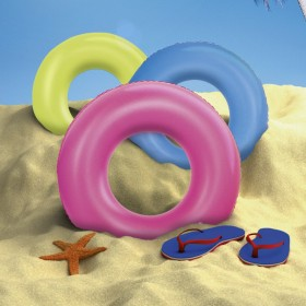 BESTWAY 36077 INFLATABLE FLUORESCENT DONUT SWIM SEA cm. 91