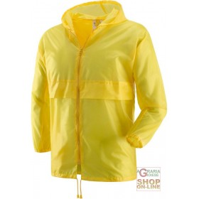 K WAY WITH ZIPPER COLOR YELLOW TG ML XL XXL