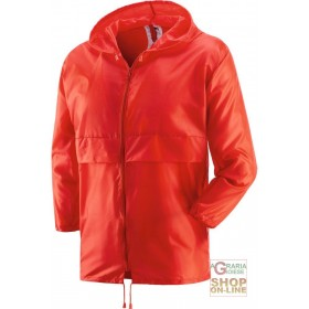 K WAY WITH ZIPPER RED COLOR TG ML XL XXL
