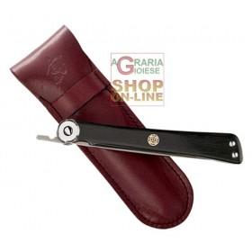 KAI FOLDING KNIFE EBONY HANDLE STAINLESS STEEL BLADE CM. 19