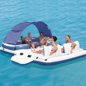BESTWAY 43105 Tropical Breeze Floating Island 6 People Sea Lake