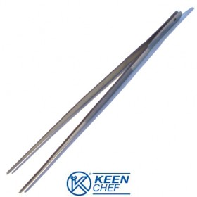KEEN CHEF KITCHEN TONGS IN STAINLESS STEEL CM. 35 KCH PC35