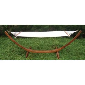 KERUING HAMMOCK WITH SUPPORT cm. 320x100x100h.
