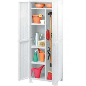 KETER WARDROBE WITH FOUR SHELVES CM.65X45X184h WHITE Broom holder