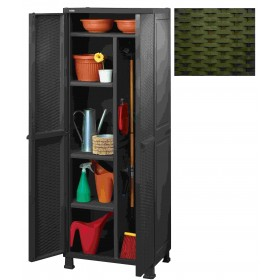 KETER WARDROBE WITH FOUR SHELVES CM.65X45X184h BROWN Broom holder