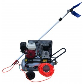 ABBACCHIATORE KIT WITH ONE ROD AND ABAC MOTORCOMPRESSOR LT. 50 ENGINE HONDA GX160 HP. 5.5