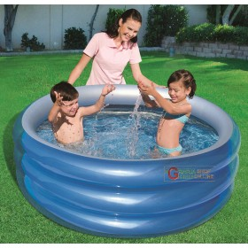 BESTWAY 51041B BLUE ROUND POOL FOR CHILDREN CM. 150x53h.