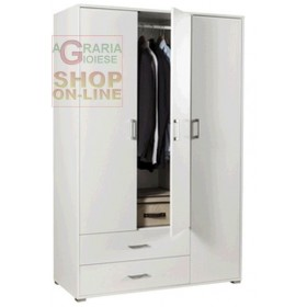 KIT CABINET WITH 3 DOORS WITH 2 DRAWERS CM.120X51X183H WHITE