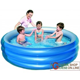 BESTWAY 51043 INFLATABLE POOL ROUND CM.201x53h.