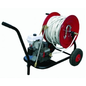 MOTOR PUMP KIT FOR SPRAYING COMPLETE WITH CARREL AND RUBBER HOSE