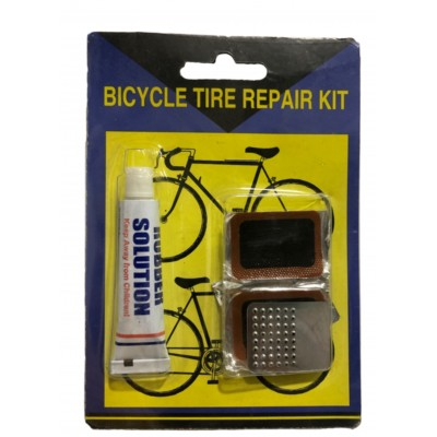 BICYCLE RUBBER PUNCTURE REPAIR KIT WITH GLUE AND TIP TOP