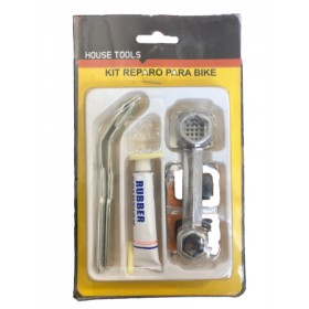 BICYCLE RUBBER PUNCTURE REPAIR KIT WITH GLUE AND TIP TOP KEY AND LEVER