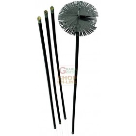 CHIMNEY SWEEP KIT 6 RODS CM. 140 DIAMETER MM. 200