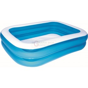 BESTWAY 54005 INFLATABLE POOL FAMILY RECTANGULAR BLUE CM.