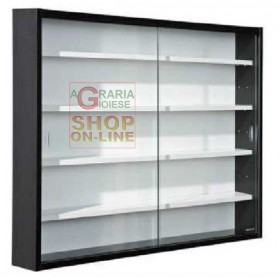 SHOWCASE KIT WITH TWO DOORS CM. 80 X 9.5 X 60 BLACK