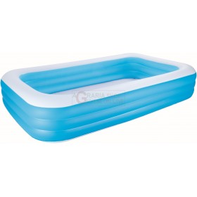 BESTWAY 54009 RECTANGULAR INFLATABLE POOL CM. 305x183x56h.