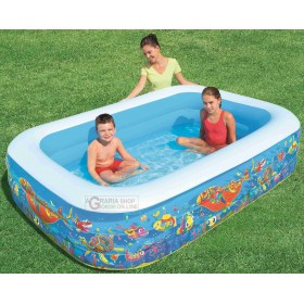 BESTWAY 54120B POOL FAMILY RECTANGULAR FISH CM. 229x152x56h.