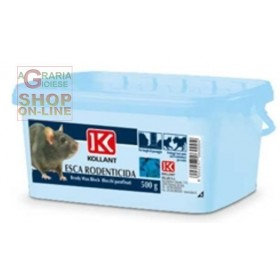 KOLLANT BRODY WAX BLOCK TOPICIDE LURE IN PARAFFINED NUTS KG. 5
