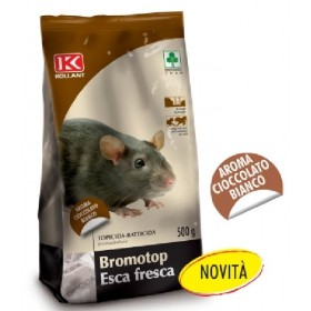 KOLLANT BROMOTOP TOPICIDE FRESH BAIT FOR MICE AROMA WHITE CHOCOLATE GR. 500