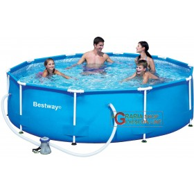 BESTWAY 56059 SWIMMING POOL WITH FRAME WITH PUMP DIAM.CM.305x76H