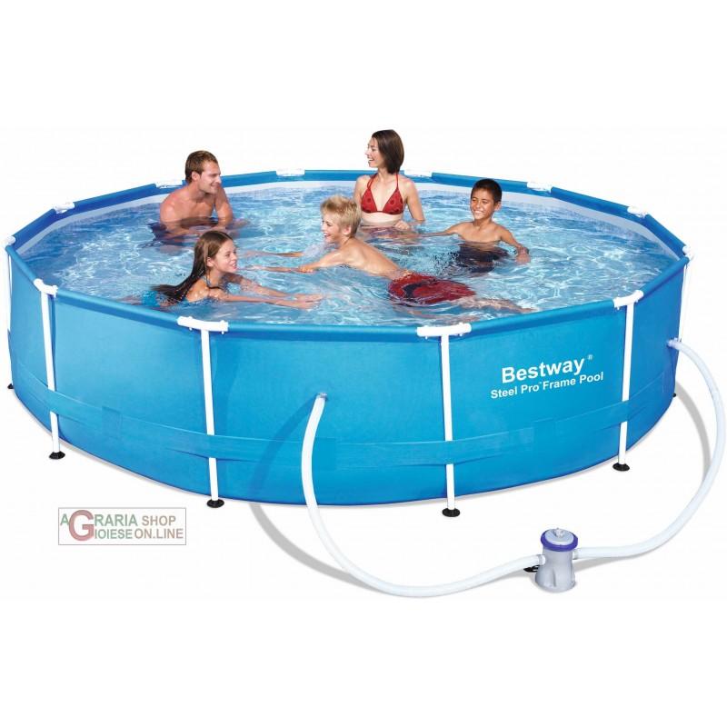 Bestway piscina con telaio con pompa - Montaggio piscina bestway ...
