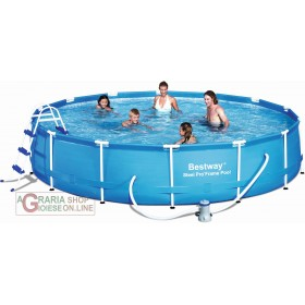 BESTWAY 56066 POOL WITH FULL FRAME DIAM.457X91h