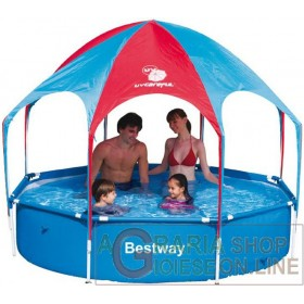BESTWAY 56193 SWIMMING POOL WITH SELF-SUPPORTING FRAME AND GAZEBO CM. 244 x 51h.