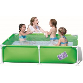 BESTWAY 56218 RECTANGULAR POOL STEEL PRO FRAME CM. 162.5x35.5h.