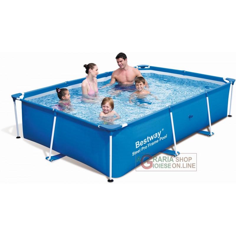 Bestway 56403 piscina con telaio fuori terra steel pro for Piscine bestway steel pro