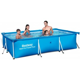 BESTWAY 56404 SWIMMING POOL WITH RECTANGULAR FRAME CM. 300x201x66h.