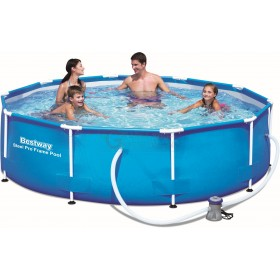 BESTWAY 56408 POOL WITH STEEL PRO FRAME AND FILTER CM. 305x76h