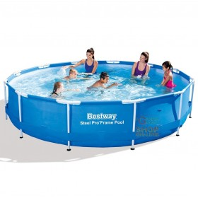 BESTWAY 56415 POOL WITH FRAME WITHOUT FILTER PUMP STEEL FRAME CM.366x76h.