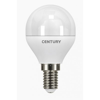 LAMPADA CLASSICA A LED LUCE FREDDA E14 ECOLIGHT A SFERA WATT. 6