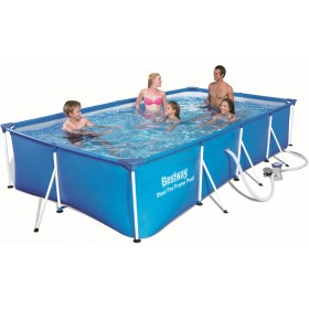 BESTWAY 56424 SWIMMING POOL WITH STEEL PRO FRAME CM.400x211x81h.
