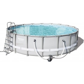 BESTWAY 56427 POOL WITH FRAME STEEL PRO FRAME COMPLETE CM. 549x132h.