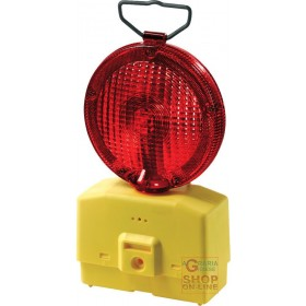 INTERMITTENT STREET LAMP RED GLASS DIAM 18 WITH FIXING BRACKET WITHOUT BATTERY