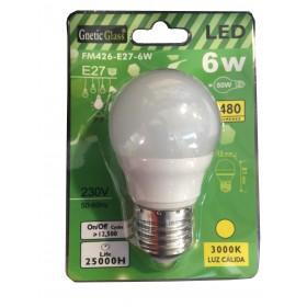 LAMPADINA A LED LUCE CALDA 3000K 480 LUMENS E27 6W