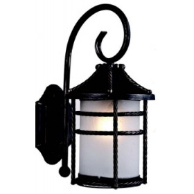 ANVERSA LANTERN WITH RUST-COLORED ARM