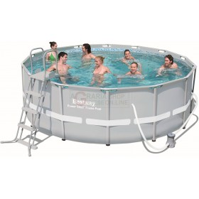 BESTWAY 56444 POOL WITH FRAME POWER STEEL FRAME CM.427x122h.