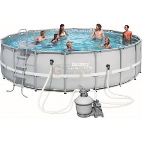 BESTWAY 56464 SWIMMING POOL WITH FRAME POWER STEEL FRAME CM. 549x132h.