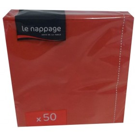 LE NAPPAGE NAPKINS 33x33 2 PLY 50 PIECES COLOR RED PARTY