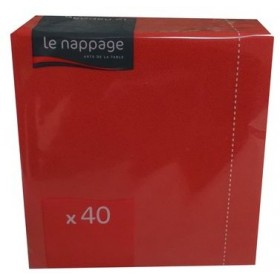 LE NAPPAGE NAPKINS 38x38 2 PLY 40 PIECES RED PARTY