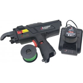Electric tying machine with rechargeable battery for kiwi vineyards