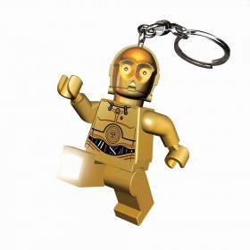 LEGO STAR WARS C-3PO TORCH FORMAT KEY RING WITH CHAIN AND RING