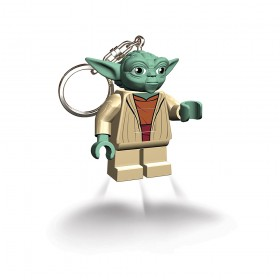 LEGO YOTA STAR WARS TORCH FORMAT KEYCHAIN WITH CHAIN AND RING