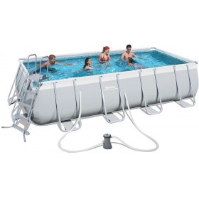 BESTWAY 56481 POOL WITH FRAME POWER STEEL FRAME CM.488x274x122h.