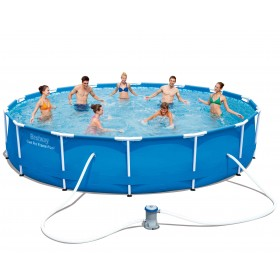 BESTWAY 56595 POOL WITH STEEL PRO FRAME WITH PUMP CM. 427x84h.